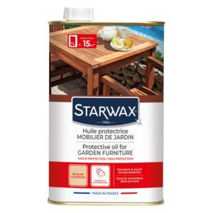 Protective oil for garden furniture