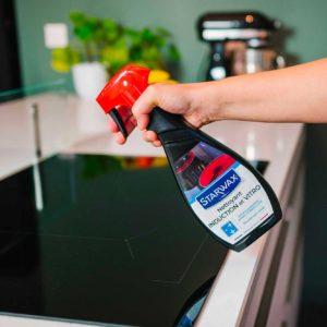 Special vitro-ceramic hotplate spray