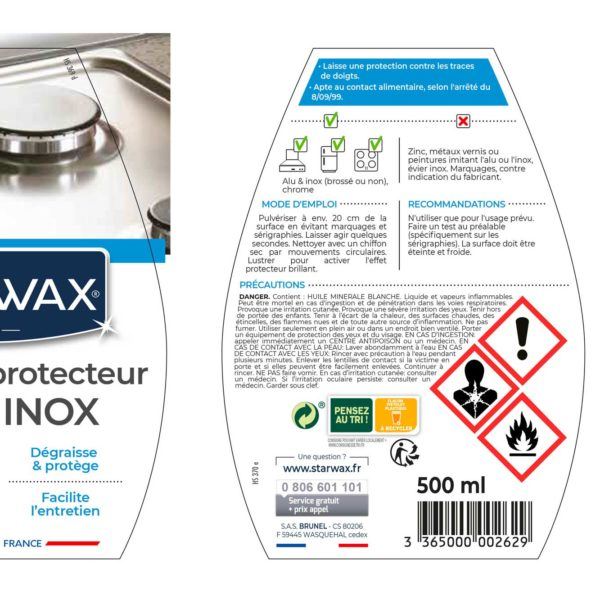 Aluminium-stainless steel cleaner protector
