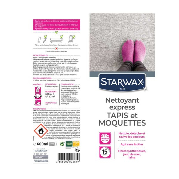 Express cleaner reviver for rugs and carpets Starwax