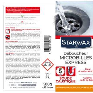 Micro-bead caustic soda-based drain opener