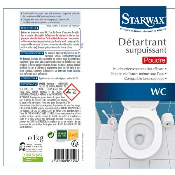 Toilet descaler effervescent powder