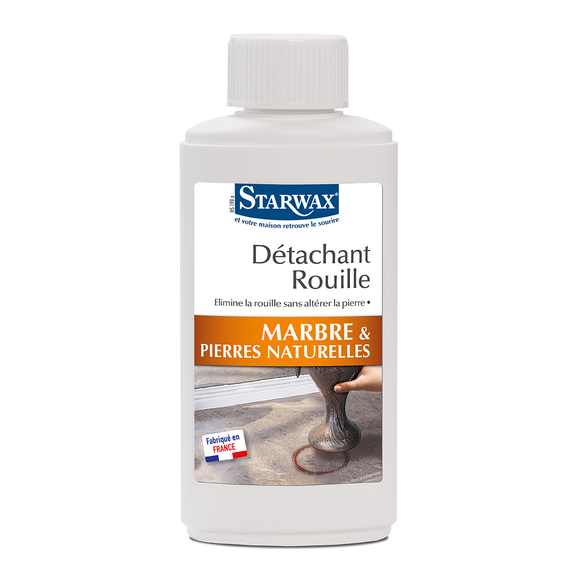 Rust stain remover for marble - Starwax