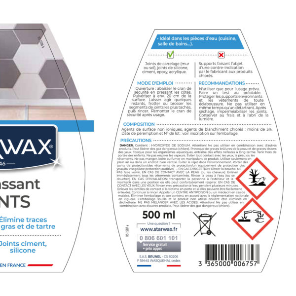 Grout cleaner starwax