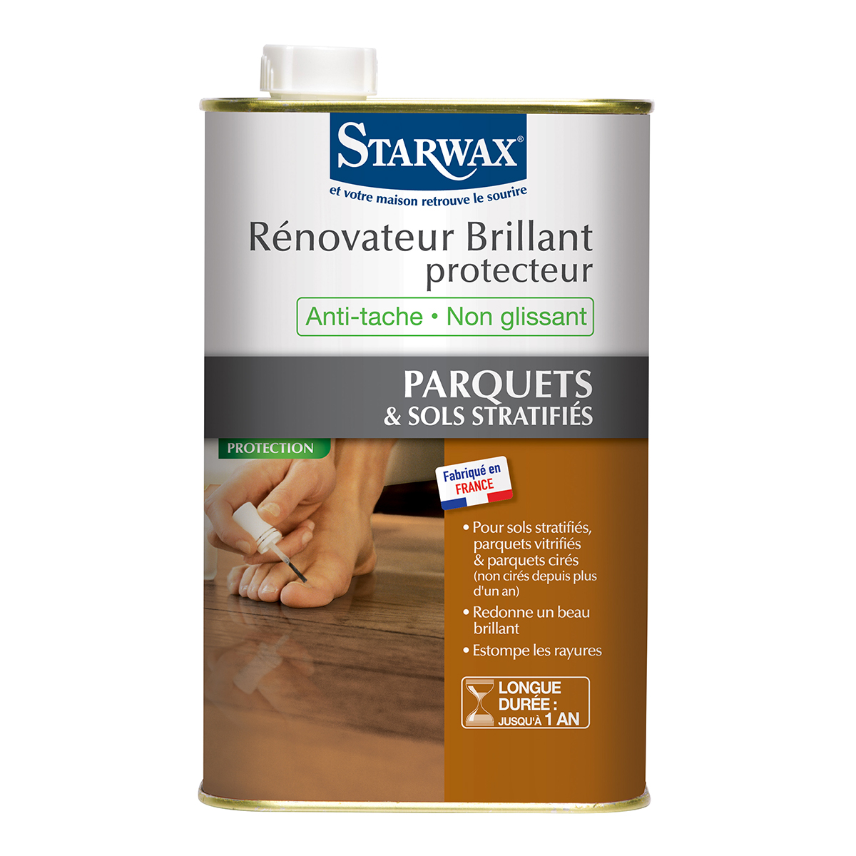 Parquet renovator gloss finish starwax cleanliness of the house - Parquet stratifie 7 mm ...