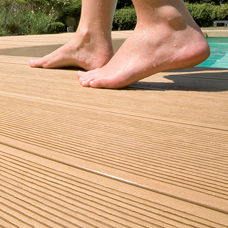 Tropical wood and teak terraces